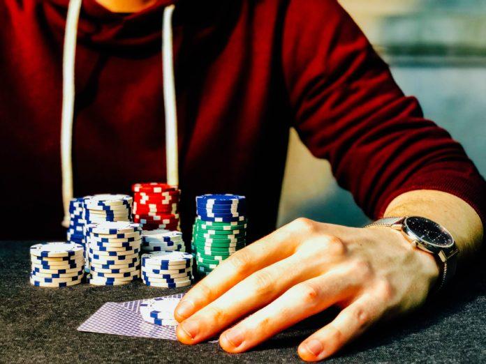 Chris Liverani Playing Poker