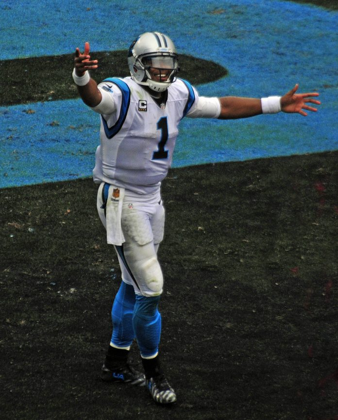 Carolina Panthers Quarterback Cam Newton Touchdown